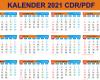 Kalender 2021 CDR PDF Lengkap dengan Hari Libur Nasional,Hari Pasaran Kalender Jawa, Kalender Hijriyah