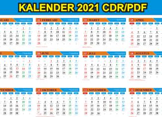 Kalender 2021 cdr Free Download