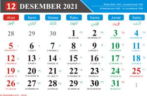 Kalender Bulan Desember 2021 Lengkap Hari Libur Nasional Kalender Jawa Bulan Desember 2021 Hari Pasaran Jawa kalender Hijriyah Bulan Desember 2021