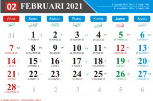 Kalender Februari 2021 Lengkap Hari Libur Kalender Jawa Bulan Februari 2021 kalender Hijriyah Bulan Februari 2021