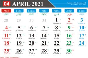Kalender Bulan April 2021 Lengkap Hari Libur Nasional Kalender Jawa Bulan April 2021 Hari Pasaran Jawa kalender Hijriyah Bulan April 2021