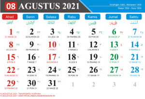 Kalender Bulan Agustus 2021 Lengkap Hari Libur Nasional Kalender Jawa Bulan Agustus 2021 Hari Pasaran Jawa kalender Hijriyah Bulan Agustus 2021